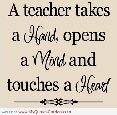 a teacher takes
